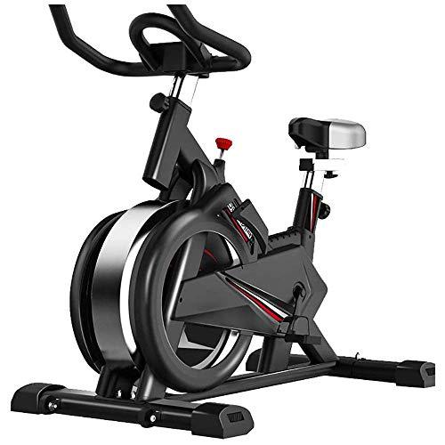 HFJKD Bicicleta estática de Ciclismo en Interiores, máquina de Ejercicios para Adelgazar Cardio-Bicicleta de Spinning, Resistencia Ajustable con Pantalla LCD para Hombres y Mujeres