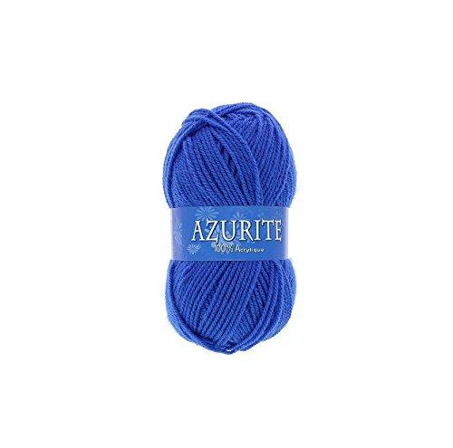 les colis noirs lcn Pelote de Laine Azurite 100% Acrylique Tricot Crochet Tricoter - Bleu - 1338