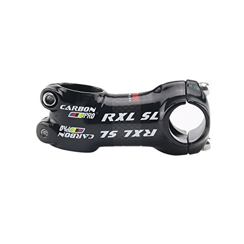 RXL SL® PRO Lega di Alluminio Rivestito in Fibra di Carbonio della Bicicletta della Strada/MTB Gambi Manubrio Parti di Biciclette 25.4 * 50/60/70/80mm Nero 3K Lucido (25.4 * 70mm)
