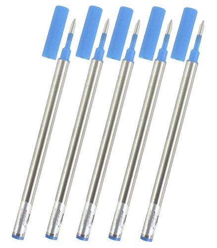 Gullor ricariche adattano Jinhao roller penna, inchiostro blu, 0,5 millimetri, un insieme di 10 PCS