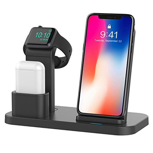 Conido Wireless Charger for iPhone, 3 in 1 Charging Stand for Apple Series Watch 5/4/3/2/1/, AirPods Pro 2 1 Charging Dock, Charging Station Compatible iPhone SE 2020,11 Pro Max, XS Max, XR, X, 8 Plus Photo #4