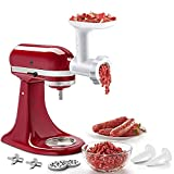 Food Meat Grinder Attachments for KitchenAid Stand Mixers, Durable Meat Grinder, Sausage Stuffer...