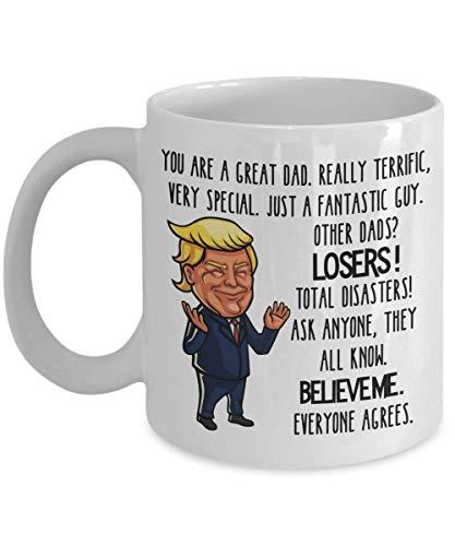 Trump Mug for Great Dad White Ceramic Coffee Cup