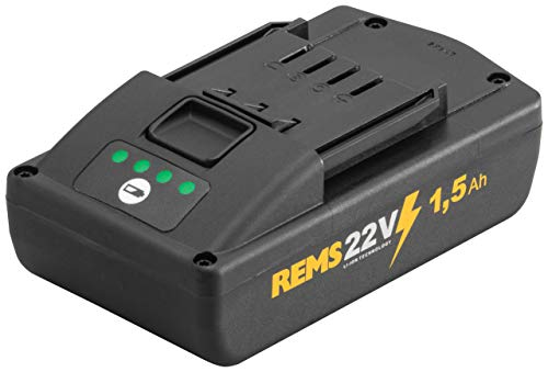 REMS Akku Li-Ion 1,5 Ah (21,6 Volt, Werkzeugakku für REMS Mini-Press, Radialpresse, kein Memoryeffekt, hochbelastbar) 571570R22