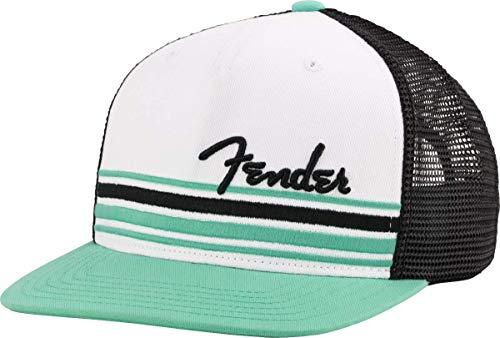 Fender Herren Mütze/Cap/Hut für Musiker, Weiß_Grün, Einheitsgröße