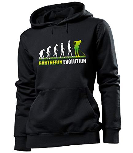 Gärtnerin Evolution Geburtstag Geschenke Damen Frauen Hoodie Pulli Sweatshirt Kapuzen Pullover zubehör Arbeitskleidung Berufsbekleidung kleingarten gärtnern Bekleidung Oberteil Kleidung Artikel