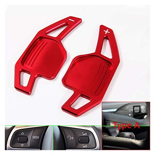 Yige Store FIT FOR Audi TT TTS MK2 8J A5 S5 Coupe A4 B8 A3 8P S3 Q5 A8 R8 Sportback Quattro Sline Wheel DSG Shift FILT Paddle Extension (Color Name : Red)