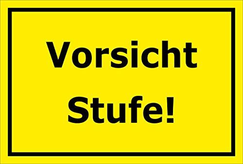 Melis Folienwerkstatt Aufkleber – Vorsicht Stufe - 30x20cm – S00085-089-C 20 VAR
