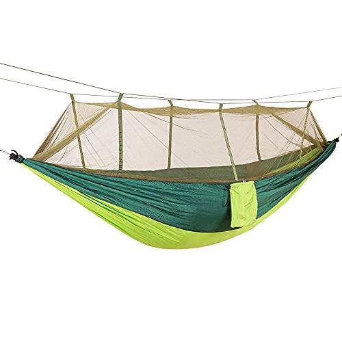 ZJSXIA Camping/Jardín Hamaca con mosquitero Muebles de Exterior 1-2 Persona Portátil Colgante Bed Strength Parachute Sueño Swing-F Hamaca Colgante (Color : C)