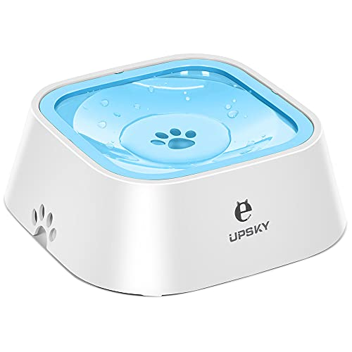 Dog Water Bowl No-Spill Pet Water Bowl Slow Water Feeder Dog Bowl No-Slip Pet Water Dispenser 35oz...