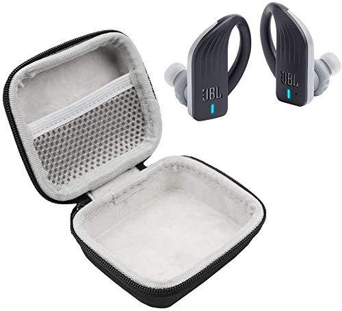 JBL Endurance Peak in-Ear Waterproof Sport Headphones Bundle with Plush Carry Case (Black)