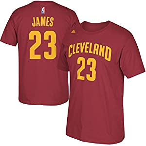 NBA Youth 8-20 Performance Game Time Team Color Player Name and Number Jersey T-Shirt - LeBron James