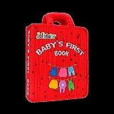VODVO Montessori Libro del bebé de Tela Suave Sensoriales Los Libros de paño for los niños de 1 año Mi Primer Libro Quiet Fieltro DIY Juguete Educativo de Aprendizaje (Color : Rojo)