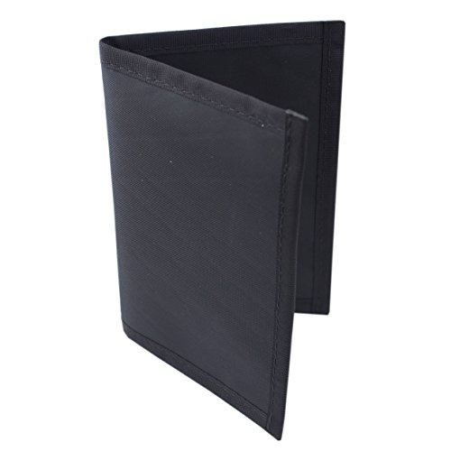 Flowfold RFID Blocking Navigator Passport Holder Slim and Lightweight for Travel - Made in USA - Jet Black