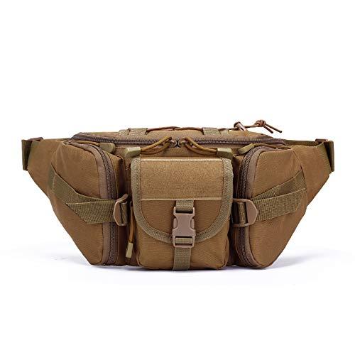 ARMAC Outdoor Waterproof Belt Bag,Riding Leg Pocket Travel Tactical Waist Bag Multifunctional Chest Purse