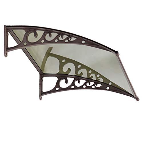 Lw Canopies deurluifel luifel, buitenafdekking deurvenster tuinoverkapping veranda luifel shelter 60×120cm