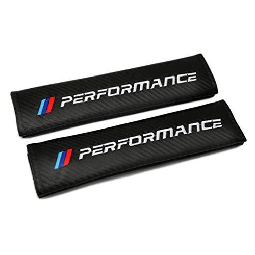 Para Bmw Performance M Logo E F X Fundas Cinturones Seguridad AutomóViles,Almohadillas Cuero Fibra Carbono Cinturones Seguridad,Cubiertas Cinturones Seguridad,Almohadillas Hombros,Cinturones Seguridad