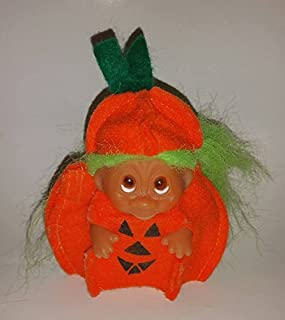 Vintage Halloween Pumpkin Troll Doll