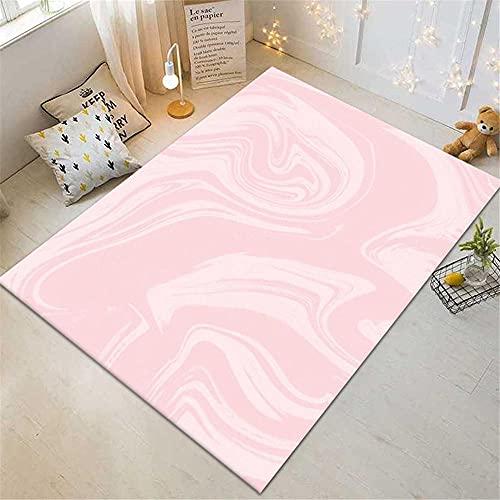Xiaosua alfombras Salon Rosa Alfombra de Estar Alfombra Rosa Abstracto Patrón Simple con Rugging alfombras alfombras 200x300cm Alfombra pequeña 6ft 6.7''X9ft 10.1''