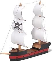 Darice 9181-32 Wooden Model, Pirate Ship Kit, (8.25