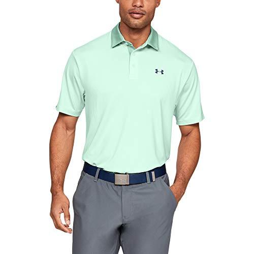 Under Armour Men's Playoff 2.0 Golf Polo, Aqua Foam (335)/Pitch Gray, Large