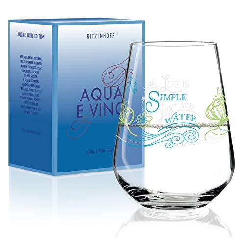 RITZENHOFF Aqua e Vino Wasser- und Weinglas von Natalia Yablunovska, aus Kristallglas, 540 ml, im modernen Design