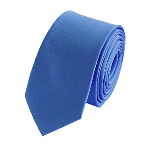 Fabio Farini Moderne Krawatte 6 cm in verschiedenen Farben, Hellblau