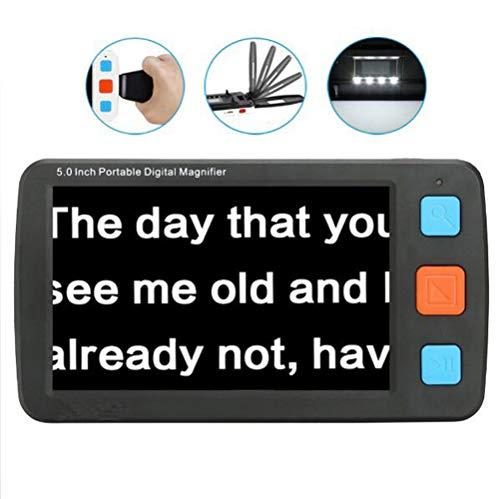 REGEN 4,3 Zoll Multifunktion Handheld Schlechte Sicht Elektronisch Lesehilfe Digital Vergrößerungsglas Mit Led-licht 4x-32x Verstärkung 17 Farbmodi LCD Vergrößerungsgla Für Lesen,S