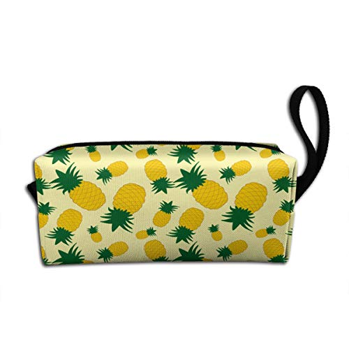 Charming Pineapple Large Capacity Pencil Case Students Pen Bag Pouch Stationary Case Makeup Cosmetic Bag