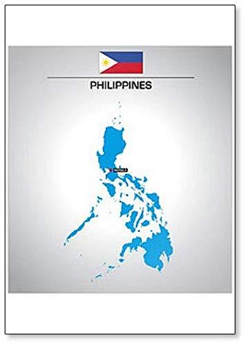Kühlschrankmagnet, Motiv: Philippinen mit Flagge