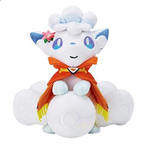 stogiit Large Closed Mouth Hold Ball EIS sechs Schwanz Plüsch Puppe Schal Cape Elf Ball White Fox Toy