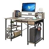 Home-Office-Computer-Desk-with-Shelves-Drawer 47' Laptop Notebook PC Coner Desk Industrial...