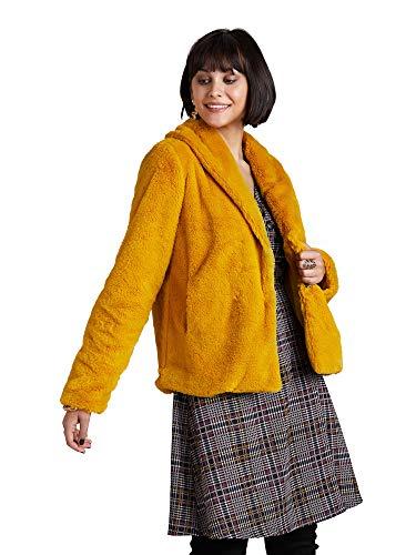 YUMI Mustard Fur - Chaqueta Corta