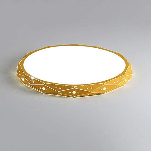 Ceiling lamp Simple Moderne Couleur Or ménage éclairage Circulaire Conversion Tricolore Moderne Chambre plafonnier élégant et Beau adapté à Divers endroits