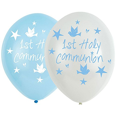 amscan 9901902 Lot de 6 Ballons en Latex Bleu 27,5 cm