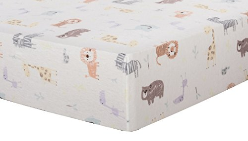Trend Lab Crayon Jungle Deluxe Flannel Fitted Crib Sheets Produktbild