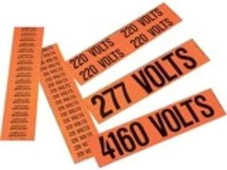 Panduit PCV-277/480BY Voltage Marker, 4.5