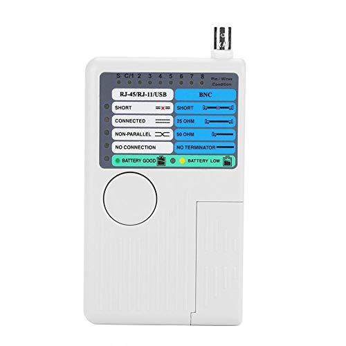 Akozon netwerkkabel tester 4-in-1 Portable LAN netwerkkabel tester remote RJ11 RJ45 USB BNC voor UTP STP kabel tracker