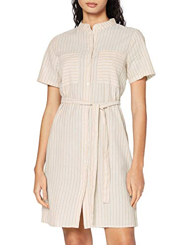 PIECES Damen PCMARLEE SS Shirt Dress BC Kleid, Warm Sand, M