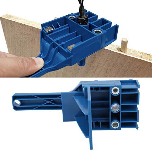 Localizador de punzones, guía de orificios, fácil de instalar Precisión de nivel milimétrico 41 piezas/juego para trabajos de carpintería Carpintería(#0, 1)