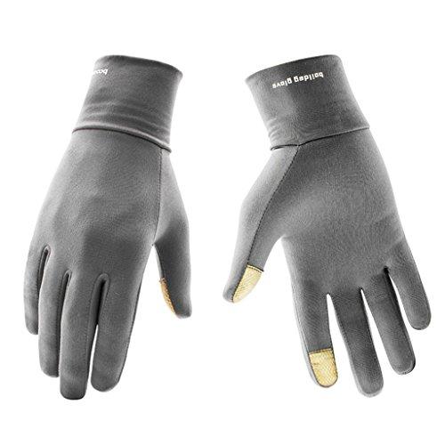 BOODUN Leichte Sporthandschuhe Laufhandschuhe WARM UP Running Handschuhe Unisex Sport Handschuhe Slim Walking Handschuhe für Damen und Herren mit Touchscreen-Funktion - Grau - L/XL