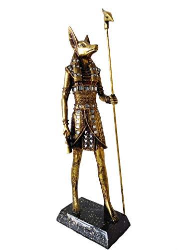 Anúbis Chacal Deus Egípcio Dourado