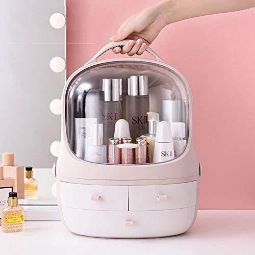 JINXZHQC Trousse à Maquillage Tragbare Trois boîtes de Rangement cosmétiques Poussière Rouges à Fleurs claires et Transparentes à tiroir Transparent