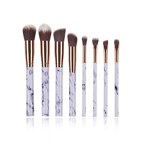 Maquillage anticernes multifonction brosse brosse de maquillage fard à paupières Foundation 2020 outil pinceau de maquillage,8pcs Blanc