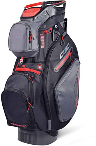 Sun Mountain Golf 2019 C-130 Cart Bag GUNMETAL-BLACK-RED (Gunmetal-Black-Red)