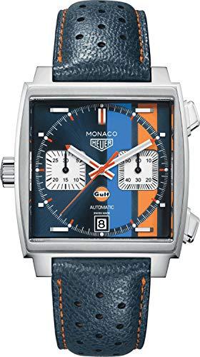 TAG Heuer - Reloj de hombre Monaco, edición especial Steve McQueen, CAW211R.FC6401