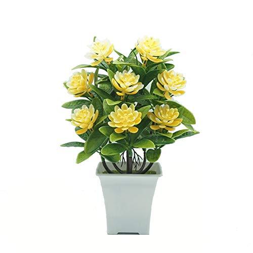 Blumen YNFNGXU Gefälschte Verzierungen Wasser-Lilien 5 Farben verwendet for Hauptdekoration Simulation Plastikblumen Grünpflanzen Kleine Topfpflanzen (Color : E)