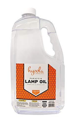 Hyoola 1-Gallon Liquid Paraffin Lamp Oil - Clear Smokeless, Odorless, Ultra...