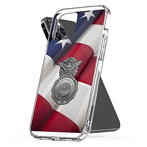 MUHBXC USAF Air Police Morbido TPU Clear Custodie per Telefoni Compatibile con iPhone 12/12 PRO Max Mini 6/6s 7/8 X/XS XR 11 PRO Max SE 2020 Drop Waterproof