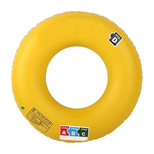 Deror Anillo de natación, Anillo de natación Grueso de PVC Inflable para Adultos Portale, boya Salvavidas para niños, Juguete de Agua para Piscina de Seguridad(90)